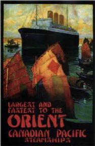 Vintage Travel Poster Canadian Pacific Steamships